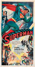 "Movie Posters:Serial, Superman (Columbia, 1948). Three Sheet (41"" X 81"").. ..."