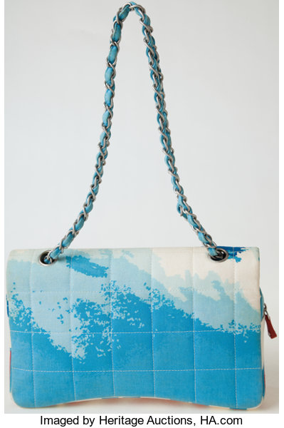 491d6d8a82b3 Heritage Vintage: Chanel Surf Line Fabric Flap Bag with | Lot #75005 |  Heritage Auctions