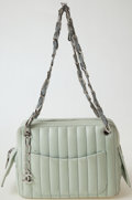 Luxury Accessories:Bags, Heritage Vintage: Chanel Pale Green Lambskin Bag with SilverHardware. ...
