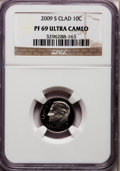 Proof Roosevelt Dimes, 2009-S 10C Clad PR69 Ultra Cameo NGC. PCGS Population (1048/395).Numismedia Wsl. Price for problem fre...