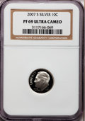 Proof Roosevelt Dimes, 2007-S 10C Silver PR69 Ultra Cameo NGC. PCGS Population (1573/447).Numismedia Wsl. Price for problem f...