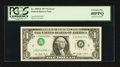 Error Notes:Inverted Third Printings, Fr. 1909-F $1 1977 Federal Reserve Note. PCGS Extremely Fine40PPQ.. ...