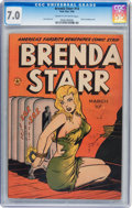Golden Age (1938-1955):Crime, Brenda Starr #14 (#2) (Four Star, 1948) CGC FN/VF 7.0 Cream to off-white pages....