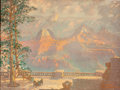 Fine Art - Work on Paper:Print, HARRY RAYMOND HENRY (American, 1882-1974). Grand Canyon from Union Pacific Grand Canyon Lodge. Lithograph. 24 x 32 inche...