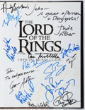 Books:Science Fiction & Fantasy, Brian Sibley. CAST SIGNED. The Lord of the Rings Official Movie Guide. Houghton Mifflin, 2001. First edition, fi...