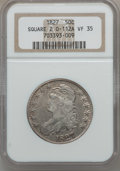 Bust Half Dollars: , 1827 50C Square Base 2 VF35 NGC. 0-112A. NGC Census: (45/1840).PCGS Population (99/1639). Mintage: 5,493,400. Numismedia ...