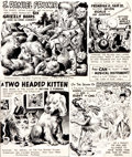 "Original Comic Art:Panel Pages, Wally Wood Mad #41 ""Strangely Believe It!"" Page Original Art(EC, 1958)...."