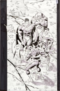 "Original Comic Art:Splash Pages, Ron Garney JLA ""Pain of the Gods"" Splash Page Original Art(DC, 2004)...."