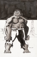 Original Comic Art:Splash Pages, Tim Sale Hulk Gray Soft Cover Unused Alternate CoverIllustration Original Art (Marvel, 2009)....