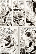 Original Comic Art:Panel Pages, Gene Colan and Dick Ayers Captain America #134 Page 19 Original Art (Marvel, 1971)....