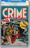 Golden Age (1938-1955):Crime, Crime Does Not Pay #33 (Lev Gleason, 1944) CGC VG+ 4.5 Off-white pages....