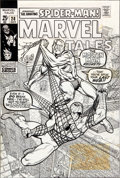 Original Comic Art:Covers, Marie Severin and Bill Everett Marvel Tales #28 Spider-Man Cover Original Art (Marvel, 1970)....