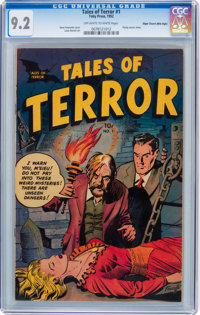 Tales of Terror #1 Mile High pedigree (Toby Publishing, 1952) CGC NM- 9.2 Off-white to white pages