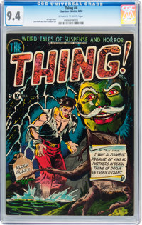 The Thing! #4 (Charlton, 1952) CGC NM 9.4 Off-white to white pages