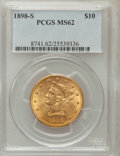 Liberty Eagles: , 1898-S $10 MS62 PCGS. PCGS Population (123/44). NGC Census:(128/22). Mintage: 473,600. Numismedia Wsl. Price for problem f...