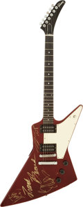 Music Memorabilia:Autographs and Signed Items, ZZ Top Band-Signed Guitar. ...
