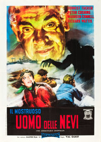 """The Abominable Snowman of the Himalayas (20th Century Fox, 1957). Italian 2 - Foglio (39"""" X 55""""). From the col..."""