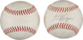 Autographs:Baseballs, 1965 Washington Senators Team Signed Baseballs Lot Of 2. ...
