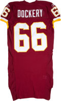 Football Collectibles:Uniforms, 2007-10 Washington Redskins Game Issued and Practice Worn Jerseys Lot of 3....