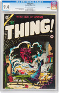 Golden Age (1938-1955):Horror, The Thing! #17 Northford pedigree (Charlton, 1954) CGC NM 9.4 Off-white to white pages....