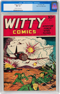 Witty Comics #1 Mile High pedigree (Irwin Rubin, 1945) CGC NM- 9.2 Off-white to white pages