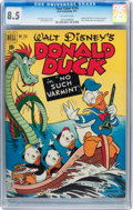 Golden Age (1938-1955):Cartoon Character, Four Color #318 Donald Duck (Dell, 1951) CGC VF+ 8.5 Off-whitepages....