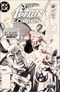 Original Comic Art:Covers, Gil Kane Action Comics #547 Superman Cover Original Art (DC,1983)....