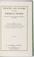 Books:Business & Economics, Walter Renton Ingalls. Wealth and Income on the AmericanPeople. Merlin, 1922. First edition, first printing. Toning...