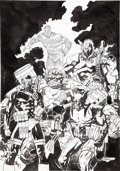 Original Comic Art:Covers, Mike Mignola Marvel Comics Presents Unpublished CoverOriginal Art (undated). ...