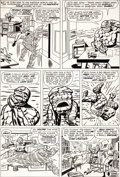 Original Comic Art:Panel Pages, Jack Kirby and Dick Ayers Fantastic Four Annual #1 Page 5 Original Art (Marvel, 1963)....
