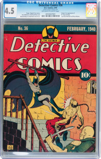 Detective Comics #36 (DC, 1940) CGC VG+ 4.5 Off-white to white pages