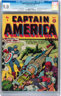 Golden Age (1938-1955):Superhero, Captain America Comics #3 (Timely, 1941) CGC VF/NM 9.0 Cream to off-white pages....