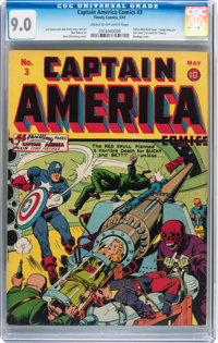 Captain America Comics #3 (Timely, 1941) CGC VF/NM 9.0 Cream to off-white pages