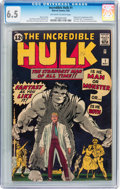 Silver Age (1956-1969):Superhero, The Incredible Hulk #1 (Marvel, 1962) CGC FN+ 6.5 Off-white to white pages....