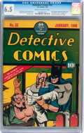 Golden Age (1938-1955):Superhero, Detective Comics #35 (DC, 1940) CGC FN+ 6.5 Cream to off-white pages....