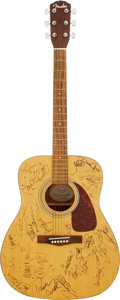 Music Memorabilia:Autographs and Signed Items, Country Music Stars Signed Guitar. ...