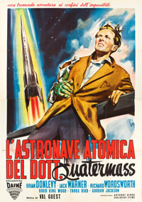 "The Quatermass Xperiment (Exclusive, 1956). Italian 4 - Fogli (55"" X 78""). Science Fiction"