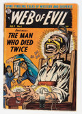 Golden Age (1938-1955):Horror, Web of Evil #5 (Quality, 1953) Condition: GD-....