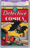 Golden Age (1938-1955):Superhero, Detective Comics #27 (DC, 1939) CGC Apparent FN/VF 7.0 Moderate (P) Off-white to white pages....