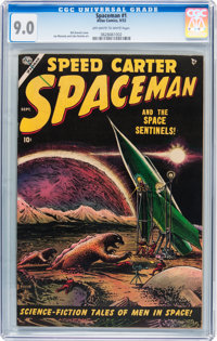 Spaceman #1 (Atlas, 1953) CGC VF/NM 9.0 Off-white to white pages