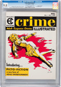 Magazines:Crime, Crime Illustrated #1 Gaines File pedigree 5/11 (EC, 1955) CGC NM/MT9.8 Off-white to white pages....
