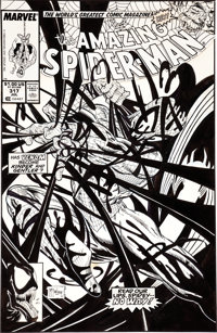 Todd McFarlane Amazing Spider-Man #317 Venom Cover Original Art (Marvel, 1989)