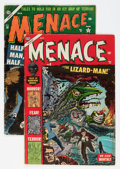 Golden Age (1938-1955):Horror, Menace #8 and 10 Group (Atlas, 1953-54) Condition: Average VG+....(Total: 2 Comic Books)