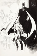 Original Comic Art:Splash Pages, Alan Davis and Paul Neary Batman Triumphant Pin-Up OriginalArt (undated)....
