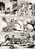 Original Comic Art:Panel Pages, Mort Meskin Sensation Comics #68 Wildcat Page 6 Original Art(DC, 1947)....