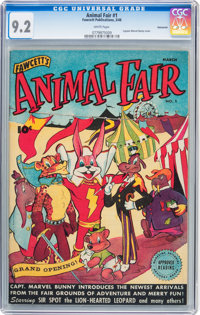 Animal Fair #1 Vancouver pedigree (Fawcett Publications, 1946) CGC NM- 9.2 White pages