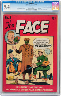 The Face #2 Mile High pedigree (Columbia, 1942) CGC NM 9.4 White pages