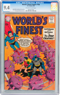 World's Finest Comics #108 (DC, 1960) CGC NM 9.4 Off-white to white pages