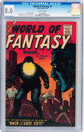 Silver Age (1956-1969):Horror, World of Fantasy #5 Circle 8 pedigree (Atlas, 1957) CGC VF 8.0Off-white pages....