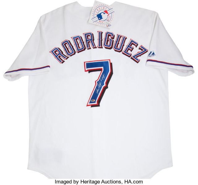 quality design a30b8 bd931 Ivan Rodriguez Signed Texas Rangers Jersey.... Baseball ...